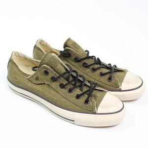 Converse X John Varvatos olive green oxford shoe